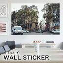人気のウォールステッカー はがせる壁紙シール artmart アートマート 絵や写真をインテリアステッカーで表現するまったく新しいコーディネイト。おすすめ 壁紙 ウォールステッカーでお部屋のイメージアップ!風景_道路_4306