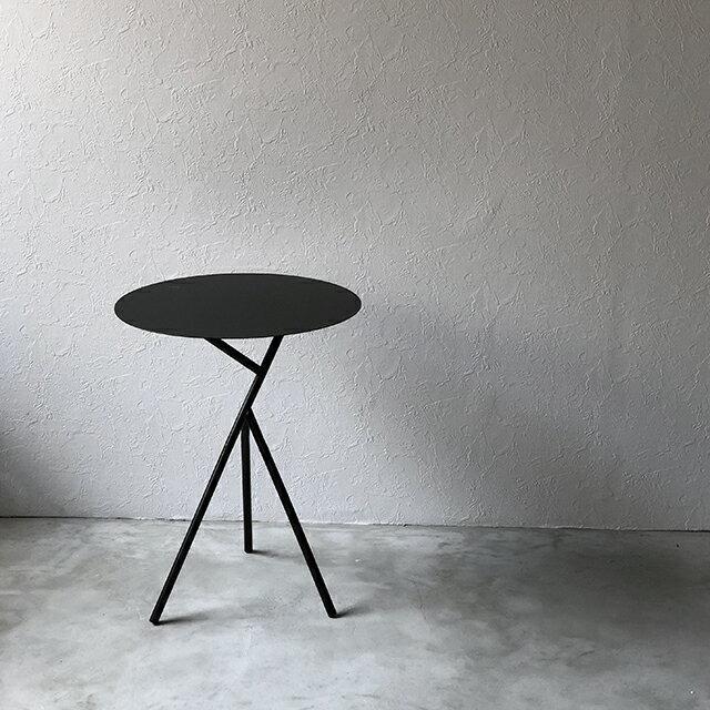 サイドテーブル アイアン ラウンド 直径45cm ブラック ホワイト 北欧 【art of black】