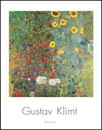 【アートポスター】ひまわりの咲く農家の庭(70cm×100cm) -クリムト- おしゃれインテリアに
