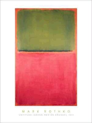 Untitled (Green, Red, Orange) 1951(580×960mm) -ロスコ-