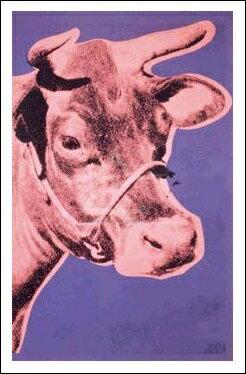 牛 1976年(560x812mm) -ウォーホル-