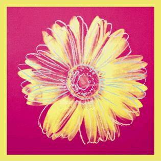 デイジー1982年(フクシア色と黄色)915mm×915mm -ウォーホル-