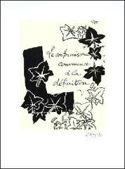 【ジョルジュ・ブラック アートポスター】Le Conformisime,1917-1947【リトグラフ】450×600mm