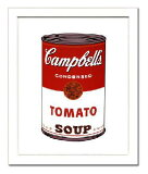 【アンディ・ウォーホル額装ポスター】キャンベルスープ I (トマト) 1968年(320×390×13mm)