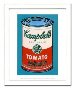 【アンディ・ウォーホル額装ポスター】キャンベルスープ缶 1965年(ピンクと赤)(320×390×13mm)