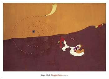 【ミロ アートポスター】野うさぎのいる風景、1927年秋(660×915mm)