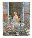 【アートポスター】窓辺のカミユ・モネ (24cm×30cm) -モネ-...
