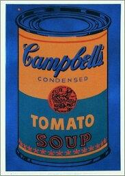 【アートポスター】Colored Campbell's Soup Can, 1965 (blue & orange)(560×812mm) -ウォーホル-