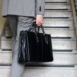 3層式本革レザービジネスバッグ