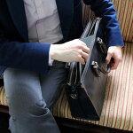 本革のかっこいいビジネスバッグ(3層の多機能収納)オールレザーでこの価格!【ビジネスバッグブリーフケースメンズレディース鞄A4本革レザー牛革2Way】【Ludiアートフィアー】ブラック(黒)/ネイビー(紺)LD900-103