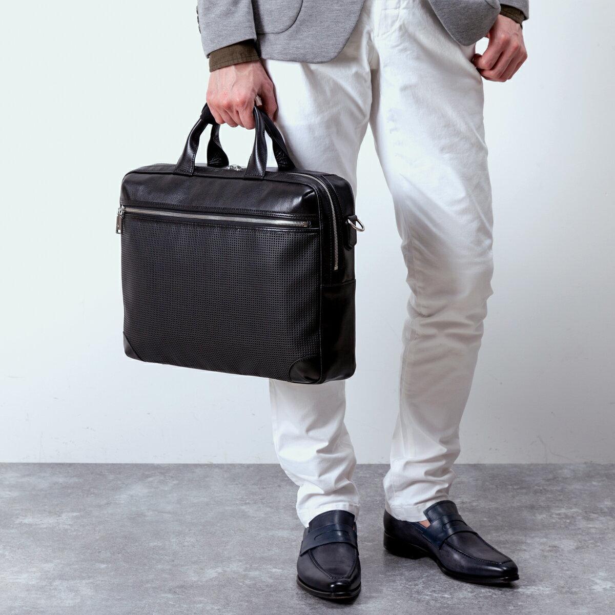 Totem Re Vooo(トーテムリボー) 3wayブリーフケース ビジネスリュック ビジネスバッグ 豊岡鞄 メンズ レディース 通勤 本革 牛革 レザー パンチングレザー ショルダーバッグ 軽量 日本製 限定カラー ブラック/ TRV0705 ARTPHERE(アートフィアー)