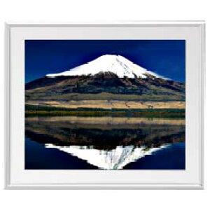 富士山(3) アートフレーム:色シルバー サイズL 641×531mm 【油絵 直筆仕上げ絵画】【布キャンバス・額表面保護板】 油彩 風景画 オリジナルインテリア絵画 風水画
