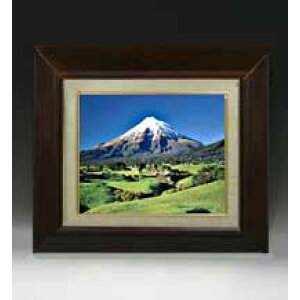 Fuji size F3 size 【Oil painting handwriting finish painting】 【With frame】 Oil painting landscape painting original interior painting Feng Shui 420 × 368mm Free shipping