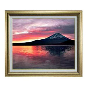 monte Fuji (2) Tamaño F12 [acabado de escritura a mano de pintura al óleo] [Con marco] Pintura al óleo pintura de paisaje pintura interior original Feng Shui Marco de oro 757 x 656mm Envío gratis