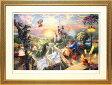 絵画【送料無料】ディズニー/トーマス・キンケード「美女と野獣/フォーリン・ラブ」作品証明書・展示用フック付ジークレ【インテリア】【アート】【Disney】