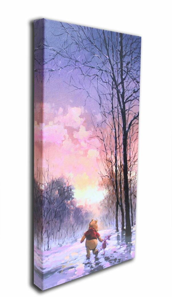 ディズニー「クマのプーさん/雪道」作品証明書・展示用フック付 限定1500部キャンバスジークレ【インテリア】【アート】【絵画インテリア】画像