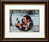 絵画【送料無料】ディズニー・セル画「ウォルト・ディズニー&ミッキーマウス」展示用フック付ポスター【インテリア】【アート】【Disney】【セル画】