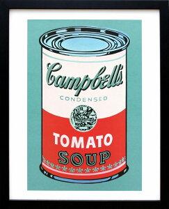 アンディ・ウォーホル「キャンベル・スープ(トマト/ピンク&レッド)1968」展示用フック付ポスター ポップアート【インテリア】【アート】【アンディウォーホル】【絵画インテリア】