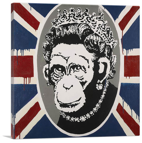 絵画, その他  Monkey Queen(S)Banksy
