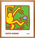 キース・ヘリング「KH10」(オーク)展示用フック付ポスター ポップアート【インテリア】【アート】【キースヘリング】【キース ヘリング】【絵画インテリア】【ポスター】