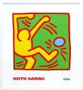 キース・ヘリング「KH10」(白)展示用フック付ポスター ポップアート【インテリア】【アート】【キースヘリング】【キース ヘリング】【絵画インテリア】【ポスター】