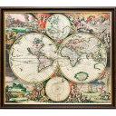 ポスター「ワールドマップ,1689」プレゼント ギフト 各種お祝い 誕...