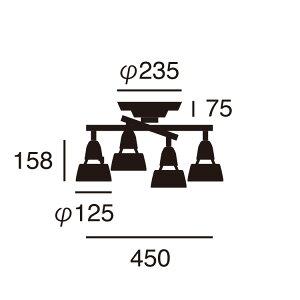 【メーカー直営店・送料無料】ARTWORKSTUDIO(アートワークスタジオ)AW-0322HarmonyXceilinglampハーモニーエックスシーリングランプ