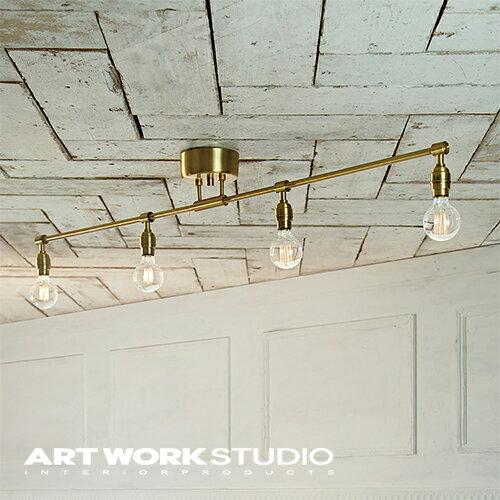 【アートワークスタジオ公式】ARTWORKSTUDIOAW-0460Z Laiton 4-ceiling lamp レイトン4シーリングランプ シーリングランプ 4灯 E26 60W 電球別売 ソケットのみ LED対応 おしゃれ レトロ ニューヨーク シャビー カフェ【ポイント10倍】