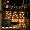 【ポイント10倍】置き型マーキーライト ARTWORKSTUDIO アートワークスタジオ BAR sign バーサイン サインライト 置き型 スチール製 床置き照明 看板 インテリア アイアン ブルックリン NYスタイル【アートワークスタジオ公式】の写真