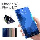 スマホケース 手帳型 ミラー iPhone Xs ケース iPhone X iPhone 8 iPhone 7Plus 手帳型ケース ……