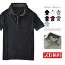 ポロシャツ メンズ 半袖 ドット 水玉柄 2枚衿【B6N】【...