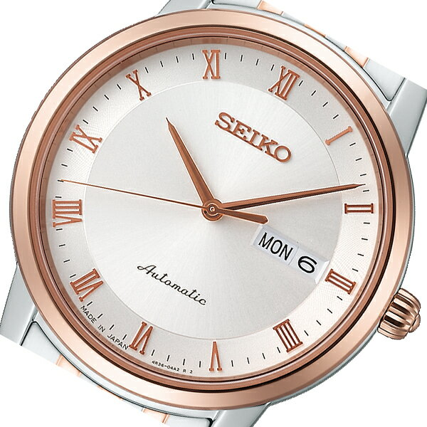 セイコー SEIKO プレザージュ 自動巻き メンズ 腕時計 SARY062 ホワイト 国内正規:セレクトショップ NUMBER11