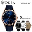 DUFA ドゥッファ WEIMAR GMT ヴァイマール DF-9006-01 DF-9006-02 DF-9006-04 DF-9006-09 DF-9006-0A 時計 腕時計 メンズ レディース 男性 女性 ホワイト ブラック ゴールド ネイビー・・・