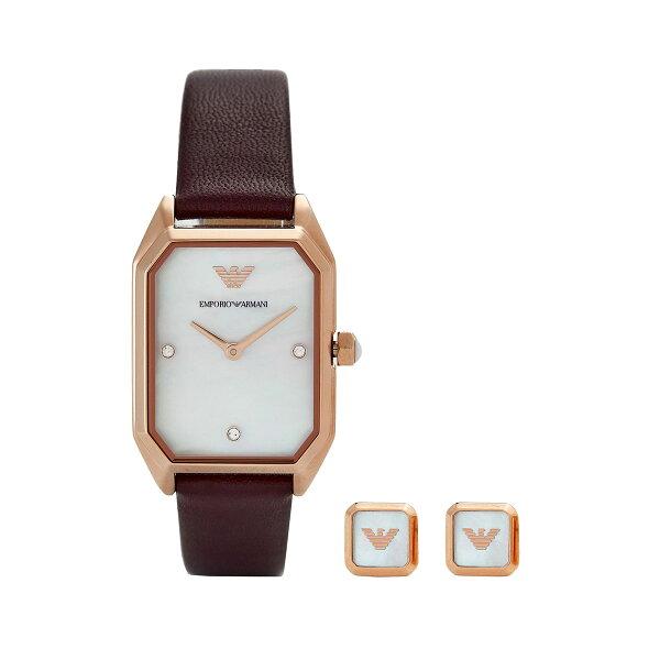 エンポリオアルマーニEMPORIOARMANIAR80028レディース時計腕時計ピアス付きクオーツ