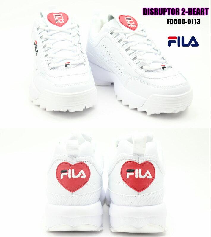FILA DISRUPTOR 2 HEART F0500-0113 WHITE/BLACK/FRED 正規品 フィラ ディスラプター2 ハート ダッドスニーカー レディーススニーカー 婦人靴 限定 楽天検索 楽天市場 サーチ 広告 通販 2020年春夏最新作 22.5cm 23cm 23.5cm 24cm 24.5cm 25cm画像