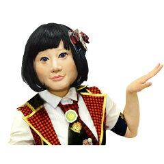 仮装・かぶりもの・マスク・半面なりきりアイドル AKB キンタロー。/ものまね・なりきり 【8-...