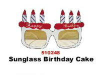 【メール便対応2個まで】バースデーケーキ サングラス サングラス ジョーク