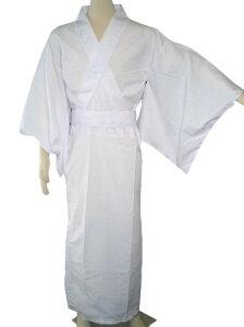 カラー着物白[仮装衣装・落語・大喜利・着物]
