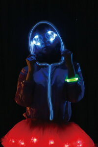 ELEX光るパーカー青女性用レディース仮装コスチューム