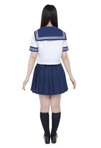 カラーセーラー紺M仮装衣装コスプレコスチュームアイドル女性用