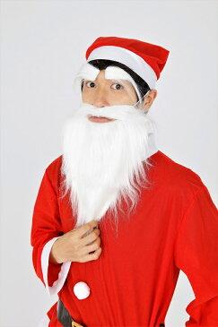 サンタさんのひげ(ストレートロング)・眉毛セット クリスマス コスプレ コスチューム サンタ サンタクロース 衣装
