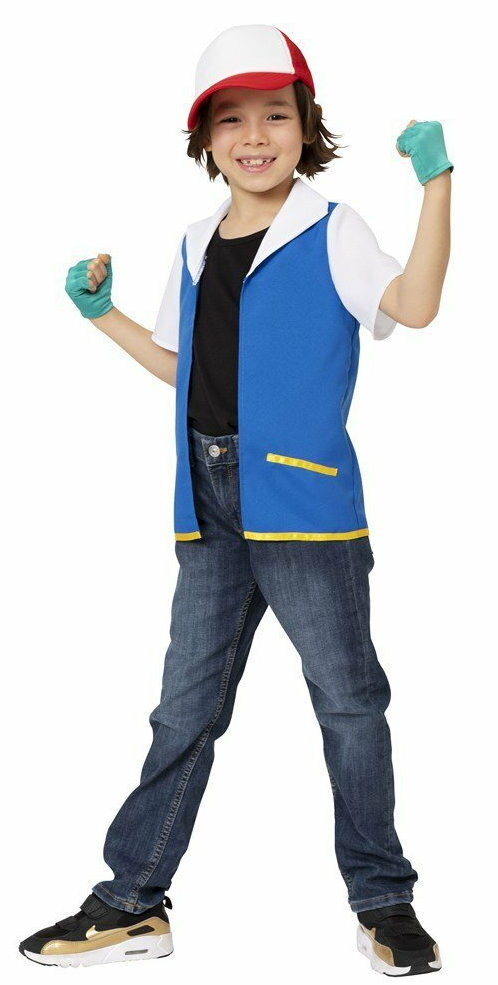 なり研 ゲット少年 キッズ 120サイズ ポケモン サトシ ポケットモンスター 仮装 衣装 男女兼用 コスチューム なりきりキャラ パーティー 変装 コスプレ画像