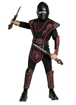 子供 レッドスカルウォーリアニンジャ L 140-160cm対応 男の子 ハロウィン コスチューム 忍者 衣装 変装 仮装