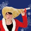 チキンかぶりもの クリスマス サンタクロース かぶりもの クリスマス コスチューム コスプレ サンタ サンタクロース 衣装