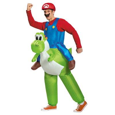 【9月末入荷予約】 送料無料 マリオ ライディングヨッシー 大人用 スーパーマリオブラザーズ / Mario Riding Yoshi Adult 仮装衣装 コスチューム【smtb-u】【RCP】【はこぽす対応商品】