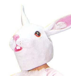 アニマルマスク うさぎ かぶりもの 動物マスク かぶりもの イースター イースターラビット イースターエッグ ウサギ