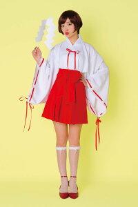 新作トキメキグラフィティミニリボン巫女レディース仮装コスチュームコスプレ