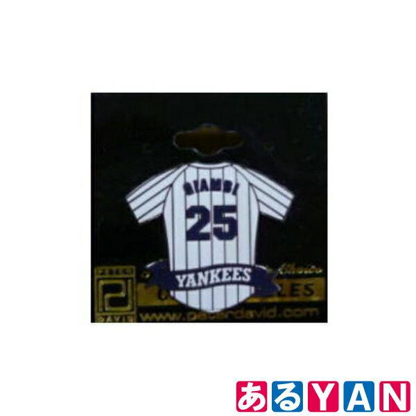 訳ありMLB ピンバッジ ジェイソン・ジアンビ GIAMBI 25 ヤンキース ホーム ピンバッチ Peter David メジャーリーグ 新品 送料無料画像