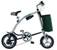 SHIMANO6段ギア装着。アルミフレームワンタッチ折りたたみ自転車FromA