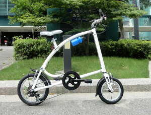 SHIMANO6段ギア装着。スチールフレームワンタッチ折りたたみ自転車FromA